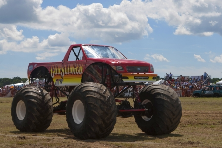 monster truck: Monster Truck at Car Show Editorial