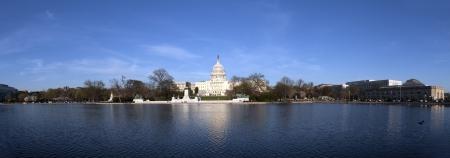 El Capitolio de los EE.UU. en la puesta del sol
