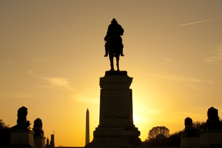 ulysses s  grant: Ulysses S. Grant Memorial at sunset Editorial