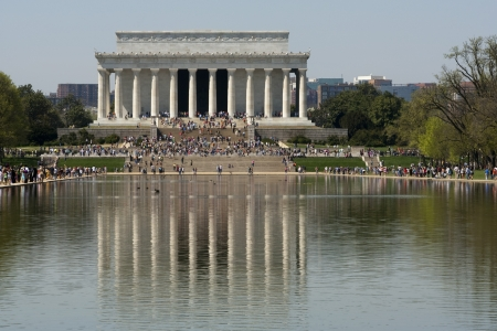 The Lincoln memorial and the reflecting pool  photo