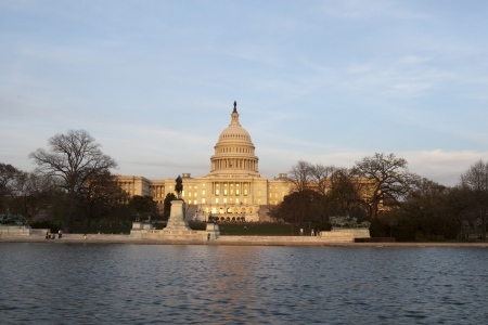 The Capitol of the USA at sunset photo
