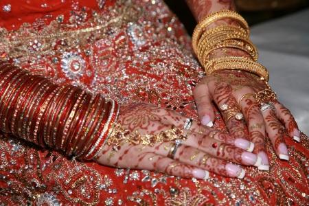 bollywood: Henna nupcial asi�tico - intrincados dise�os de arte indio y musulm�n
