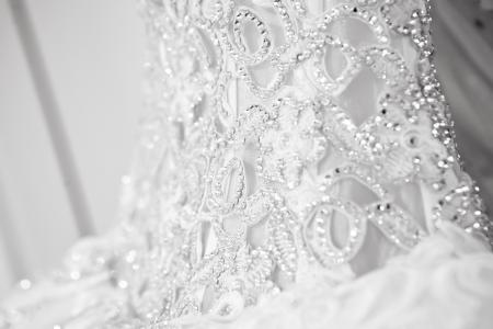 Hochzeit Gaun auf Schaufensterpuppe Standard-Bild