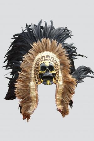 traje mexicano: Máscara del nativo americano Aislado