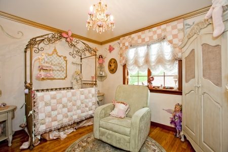 nursery: Interior del cuarto de ni�os. Editorial