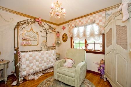 baby nursery: Interior of nursery.
