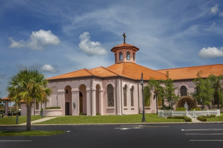 San Pedro Catholic Church, North Port, Florida Reklamní fotografie - 15607615