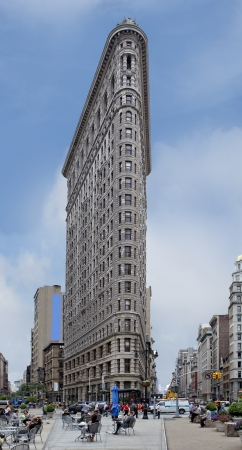 NEW YORK CITY - June 1  The Flatiron building in Manhattan June 1, 2012 in New York, NY  Considered a groundbreaking architectural feat, it was completed in 1902