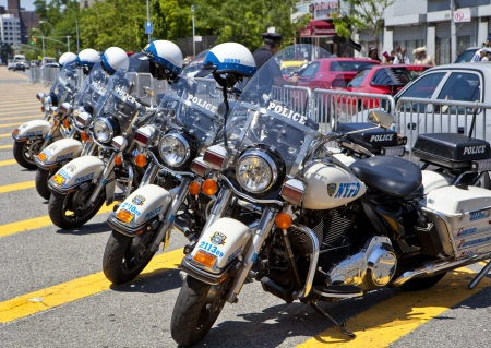 Police Bikes in a row