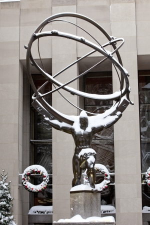 Atlas statue and Rockefeller center