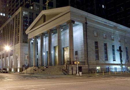 episcopal: St. Pauls Chapel, an Episcopal Church at night