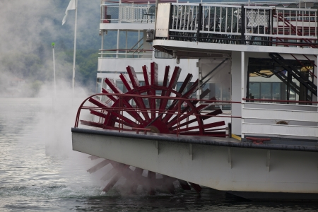 Steam boat at Lake George   photo