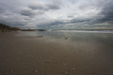Rockaway beach. NY. Day after Hurricane Sandy photo