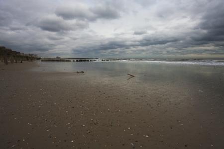 Rockaway beach. NY. Day after Hurricane Sandy Standard-Bild