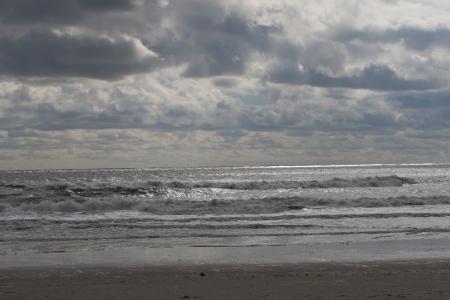 Rockaway beach. NY. Day after Hurricane Sandy 版權商用圖片