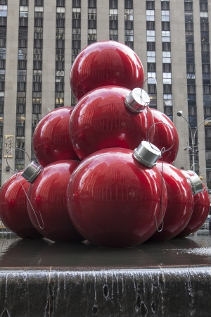 NEW YORK - DECEMBER 26: Christmas Decorations in Rockefeller Center on December 5, 2012 in New York City.