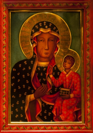 mary and jesus: Mary Jesus Icon Shrine Saint Patricks Cathedral, New York City