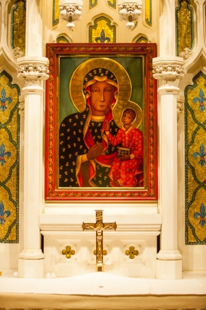 Mary Jesus Icon Shrine Saint Patricks Cathedral, New York City  photo