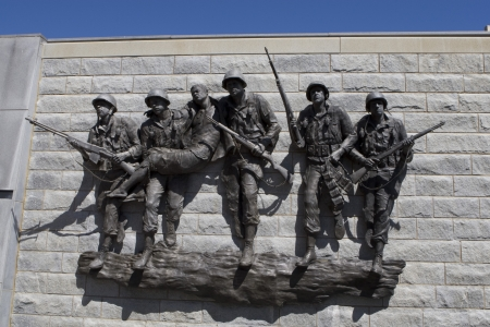 a memorial to fallen soldiers: Korean War Memorial in Atlantic City, New Jersey