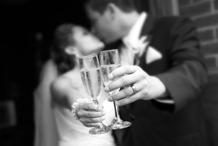 brindis champan: Wedding Toast Champagne Foto de archivo