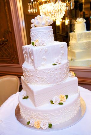 aciculum: Wedding Cake Stock Photo