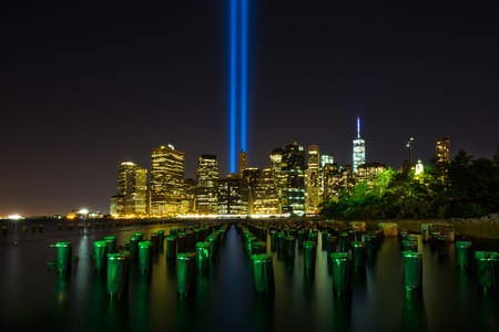Tribute in Light. Downtown New York City photo