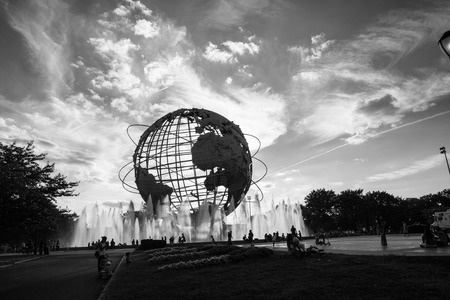 flushing: View of Flushing Meadows-Corona Park Unisphere