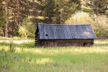 old farm: Old Farm House in Rural Landscape