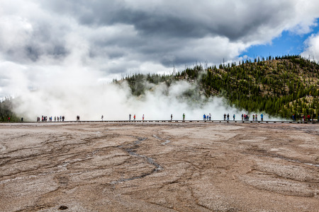 prismatic: Grand Prismatic Spring, Midway Geyser Basin, Yellowstone National Park Editorial