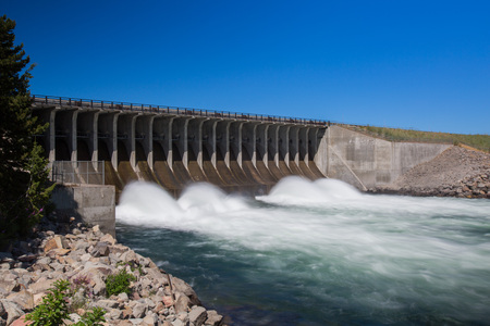 jackson: Jackson Lake Dam in Grand Teton National Park