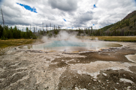 hydrology: Biscuit basin in Yellowstone National Park