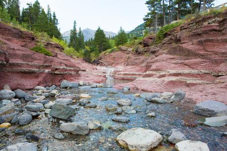 Scenic Red Rock Canyon Waterton National Park Alberta Canada