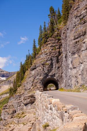belong: Glacier National Park belong Going to the sun road Stock Photo