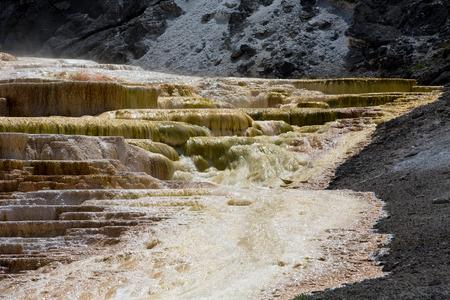 Mammoth Hot Springs. Yellowstone National Park Stok Fotoğraf