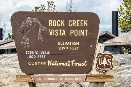 rock creek: Sigh Rock Creek Vista Point at Beartooth Highway in Montana.