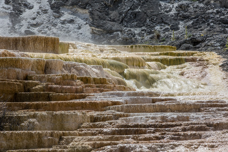mammoth: Mammoth Hot Springs. Yellowstone National Park Stock Photo