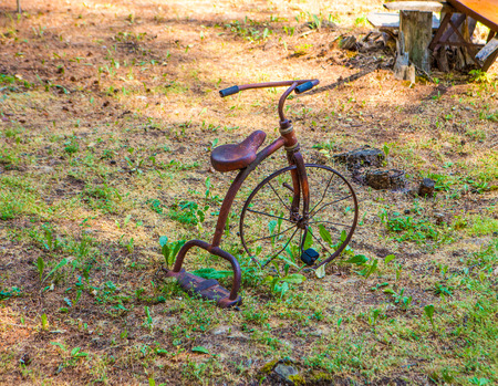tricycle: Vintage model tricycle Stock Photo