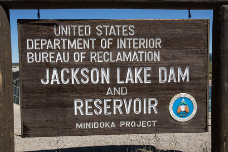 teton: Jackson Lake Dam in Grand Teton National Park