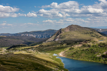 scenic highway: Scenic view along the Beartooth Highway in Montana.