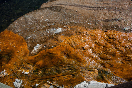 prismatic: Grand Prismatic Spring, Midway Geyser Basin, Yellowstone National Park Stock Photo