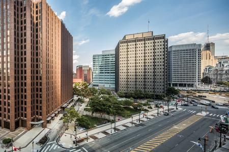 PHILADELPHIA - June7, 2016: Cityscape with street and Downtown Skyline of Philadelphia, Pennsylvania, USA