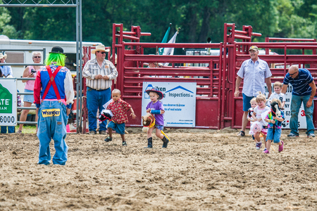 Young cowboys ready to ride Ellicottville, New York - July 4 : Young cowboys ready to ride. Cowboy Participating Competition. Championship Rodeo, Located in the beautiful Enchanted Mountains that surround Ellicottville New York