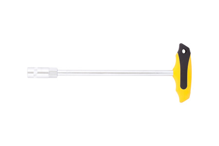 torque wrench: Torque wrench with a plastic T-handle