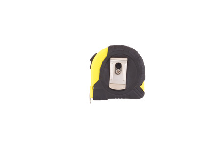 Yellow-black tape measure , Isolated on white background  photo