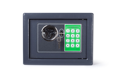 futility: Electronic home safe Isolated on white background includes a clipping path.