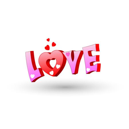 graphiti: Graffiti urban art. Pink Graffiti Love hearts