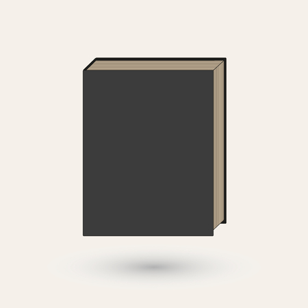notebook cover: Book or notebook with a black cover.