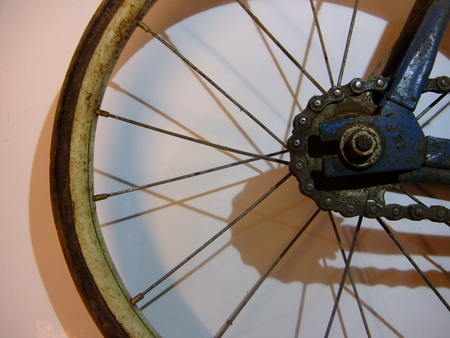 Bicycle, old, wheel, retro, rust