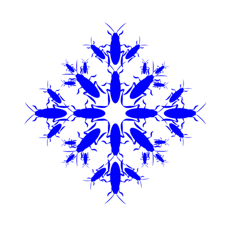 Snowflake icon graphic. Collected from cockroaches. New year. Christmas Winter