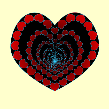 The heart is an abyss of love concept vector illustration
